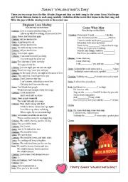 English Worksheet: Moulin Rouge & Saint Valentine´s
