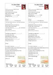 English Worksheet: Nelly Furtado -