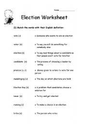 vocabulary for presidential election unit just b cause. Black Bedroom Furniture Sets. Home Design Ideas