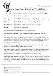 English Worksheets: Voting worksheet