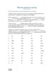 English Worksheet: Pet exam Grammar exercise for exam practise