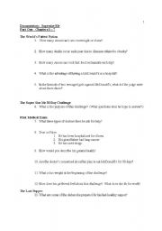 English Worksheet: Supersize me! Documentary Worksheet