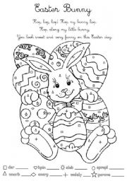 English Worksheets: Easter Bunny for Young Learners