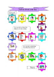 English Worksheets: Daily routine Game