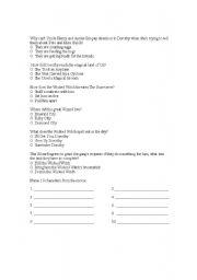English Worksheet: Wizard of Oz Movie test