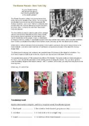 English Worksheet: The Easter Parade in New York