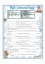 English Worksheet: PAST CONTINUOUS AND PAST SIMPLE