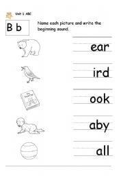 Worksheet B Sound Word Worksheet letter b worksheet by titazotes english b