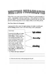 English Worksheets: Writing descriptions in paragraphs