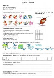 Chinese Zodiac Legend worksheet