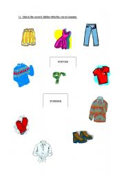 english teaching worksheets seasons and clothes. Black Bedroom Furniture Sets. Home Design Ideas