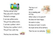 English Worksheets: Work and Play