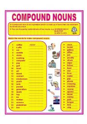 English worksheets: COMPOUND NOUNS