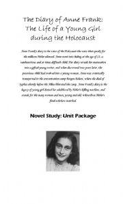 Anne Frank Unit