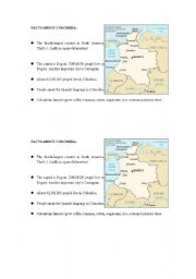 english worksheets facts about colombia made for longman 4a unit 1. Black Bedroom Furniture Sets. Home Design Ideas