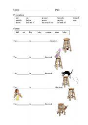 math worksheet : free preposition worksheets for kindergarten  prepositions  : Preposition Worksheets Kindergarten