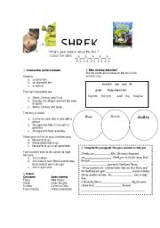 English Worksheet: Shrek 2