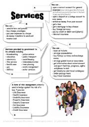 English Worksheets: Services