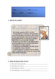 English Worksheet: Simple Past - Test