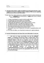 English Worksheet: Crime and Punishment - Vocabulary work