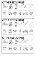 English Worksheets: AT THE RESTAURANT