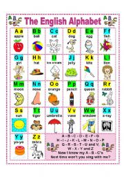 English Worksheet: THE ENGLISH ALPHABET