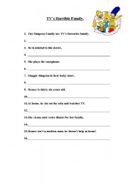 English Worksheet: crazy dictation