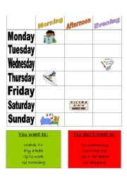 English Worksheet: What are you doing on Tuesday?