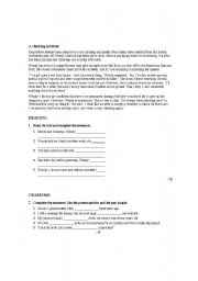 English Worksheets: A climbing accident