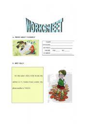 English Worksheets: Worksheet - Billy Brown