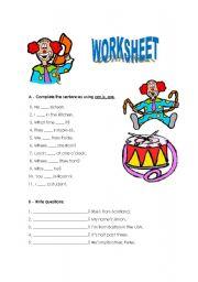 English Worksheets: Worksheet