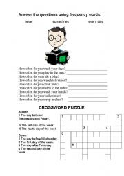 English Worksheet: Frequency words