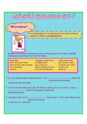 English Worksheets: Colloquial Expressions Part -1