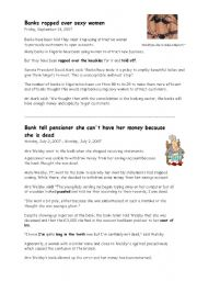 English Worksheet: Money matters and banking vocabulary
