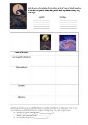 English Worksheets: The Nightmare before Christmas
