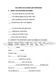 English Worksheet: You know I�m no good by Amy Winehouse