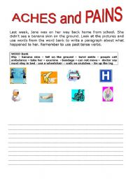 English Worksheets: aches and pains