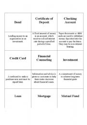 English Worksheet: Banking Terms