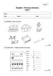Worksheets Primary English Worksheets worksheet primary levels test english test
