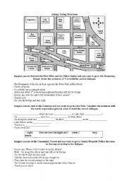intermediate esl worksheets asking giving directions. Black Bedroom Furniture Sets. Home Design Ideas