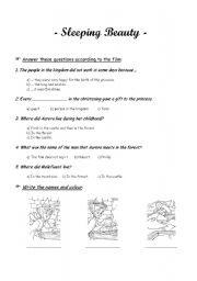 sleeping beauty worksheets the large and most comprehensive worksheets. Black Bedroom Furniture Sets. Home Design Ideas