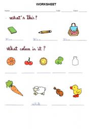 English Worksheets: what�s this?