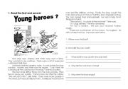 English Worksheets: Reading Comprehension with Simple Past