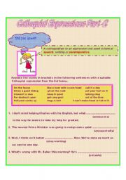 English Worksheets: Colloquial Expressions Part -2