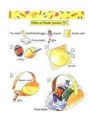 English Worksheet: Make easter present