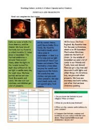 English Worksheets: teaching culture(traditions)