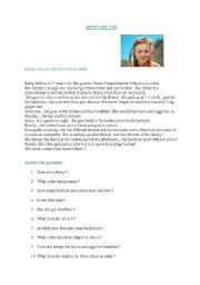 English Worksheets: BETSY MILTON�S ROUTINE