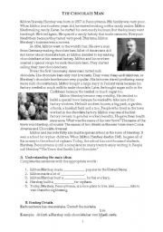 English Worksheets: The Chocolate Man