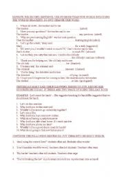 English Worksheet: indirect speech. good for PET students