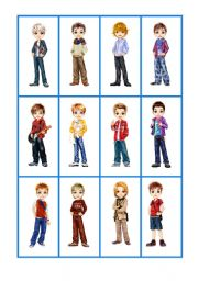 English Worksheets: Flashcards Clothes1